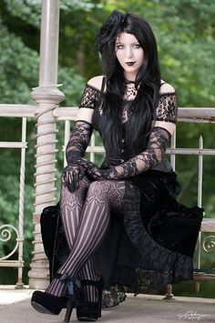 Romantic goth girls | Found on fbcdn-sphotos-h-a.akamaihd.net