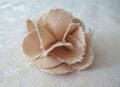 цветок из мешковины