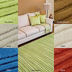 Hand-tufted Groovy Multi Wool Rug (8' x 11')