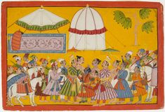 Philadelphia Museum of Art - Collections Object : King Janaka Greets King Dasharatha at His Son Rama's Wedding