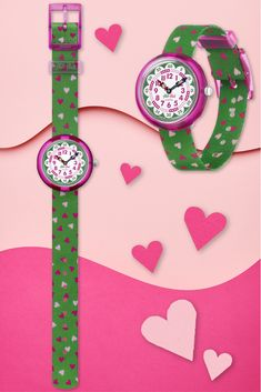 Swiss Watch, Telling Time, Pink Color, Swatch, Hearts, Textiles, Colours, Urban, Activities