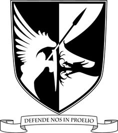 Defend Us In Battle - My Logo: Shield for spiritual warfare, St. Michael and the Dragon, and the Black and White for Dominican/Thomistic spirituality.  #PureCatholic