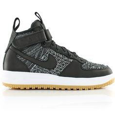 the latest a3d7a fa873 nike LUNAR FORCE 1 FLYKNIT WORKBOOT BLACK WHITE-WOLF GREY-GUM LIGHT BROWN