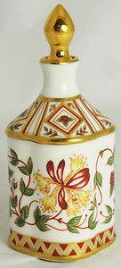 """Royal Crown Derby Porcelain Robin Scent Bottle """"Honeysuckle"""""""