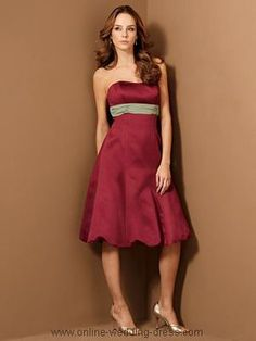 bridesmaid dress red
