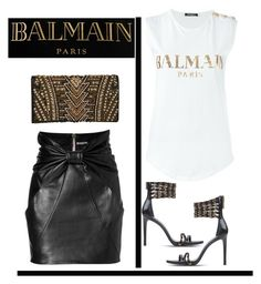 """""""Balmain"""" by terry-tlc ❤ liked on Polyvore featuring Balmain and Pierre Balmain"""