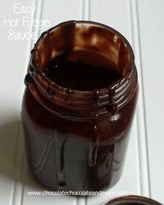 Easy Hot Fudge Sauce from www.chocolatechocolateandmore.com