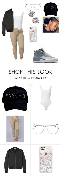"""""""You know I got that act right I'll be home by3️⃣ to put you straight to sleep You know I got that love me long time So how deep is your love Come show me Wassup If I give it to ya promise you won't tell nobody cuz t ain't nobody's business"""" by team-nadia ❤ liked on Polyvore featuring Alaïa, Ray-Ban, T By Alexander Wang, Casetify and Tiffany & Co."""