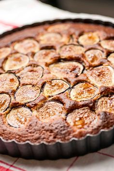 This recipe is delicious! Figs are baked into an almond batter for this rustic cake to have with coffee or tea. With figs, ripeness is everything. A ripe fig (the object of your desire) is soft, yielding, beginning to crack, nearly wrinkled. Fig Recipes, Baking Recipes, Cake Recipes, Dessert Recipes, Recipes With Figs, Pear And Almond Cake, Almond Cakes, Slow Cooker Desserts, Fig Cake
