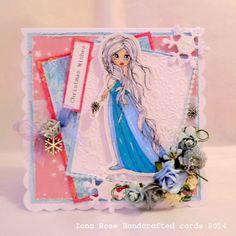 OOAK  Handmade Frozen Christmas Card by IonaRose on Etsy