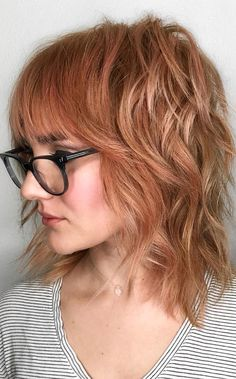 Long Shag Hairstyles, Medium Shag Haircuts, Hairstyles Haircuts, Cool Hairstyles, Glasses Hairstyles, Pixie Haircuts, Office Hairstyles, Anime Hairstyles, Hairstyles Videos