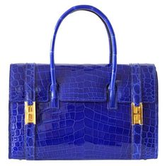 One of the most elegant bags HERMES ever produced! Just brought out of retirement in a limited quantity. Electric bleu niloticus crocodile with gold hardware Vintage Bags, Vintage Handbags, Hermes Vintage, Womens Designer Bags, Bags Online Shopping, Kids Bags, Hermès Bags, Handbag Accessories, Fashion Accessories