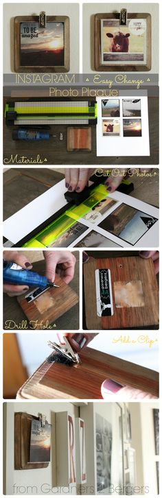 from Gardners 2 Bergers: Instagram ▪Easy Change▪ Photo Plaques