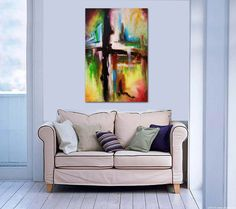 Cross Painting Abstract Painting Original by heatherdaypaintings, $250.00