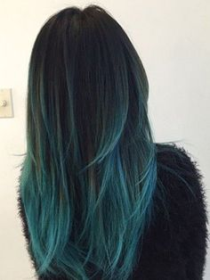 lagoon hair cheveux couleur d grad bleu nuit turquoise. Black Bedroom Furniture Sets. Home Design Ideas