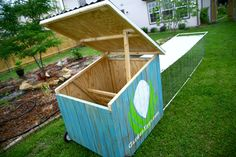 """Chicken tractor idea for our """"soon-to-be"""" retiring old ladies.  It'll be there retirement home and the new ladies will get the coup!"""