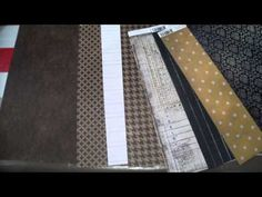 Scrap para principiantes 2. Papeles, tipos, tamaños. Tips scrapbooking, ideas scrapbook.. - YouTube