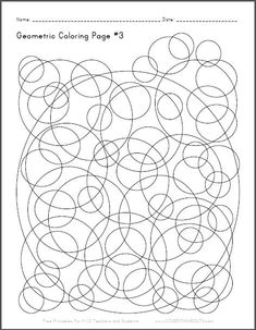Abstract Coloring Page 4 Free to print PDF file Curved
