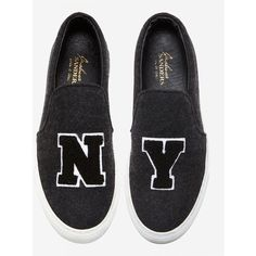 Joshua Sanders NY Slip On Sneakers ($425) ❤ liked on Polyvore featuring shoes, sneakers, flats, black sneakers, flat shoes, flat slip on shoes, black slip on flats and slip-on shoes