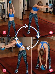 Around the World with a Medicine Ball (and Week 3's other moves) will get you PUMPED to get fit!