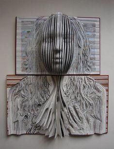 Arte con libros.