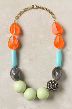 Great transition piece from winter to spring - and the crystal ball makes the necklace