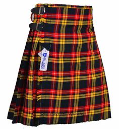 8b30b1a7a Buchanan Men's 5 Yard 13oz Casual Wear, Light Weight, Scottish Tartan Kilt  #AllSafe