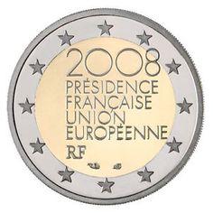 moneda conmemorativa 2 euros Francia 2008.