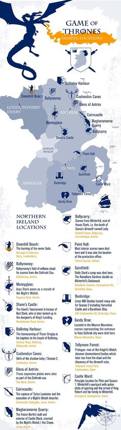 """Hey """"Game of Thrones"""" fans: Northern Ireland urges you to explore real-life locations with a special map."""