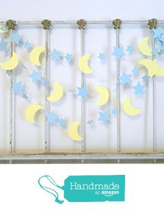 I Love you to the Moon and back decorations - 10ft blue & Yellow Moon Stars Garland - Baby Shower Decor- Nursery Decor -Twinkle Little Star Birthday decoration from Anyoccasionbanners http://www.amazon.com/dp/B01A3EN6GC/ref=hnd_sw_r_pi_dp_OiVPwb0YZRZGD #handmadeatamazon