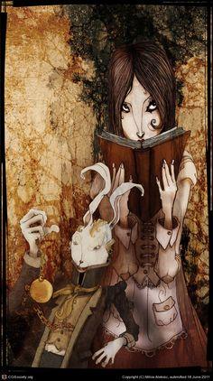 CGTalk - Alice In Wonderland - Alice And Rabbit, Milos Aleksic (2D)