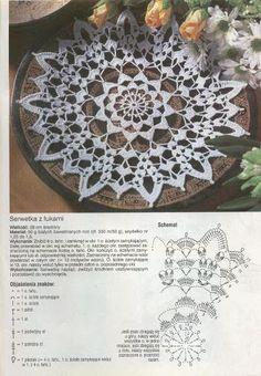 World crochet: Napkin 146 - Salvabrani Mandala Au Crochet, Crochet Stars, Crochet Circles, Crochet Doily Patterns, Crochet Diagram, Thread Crochet, Crochet Designs, Crochet Stitches, Knit Crochet