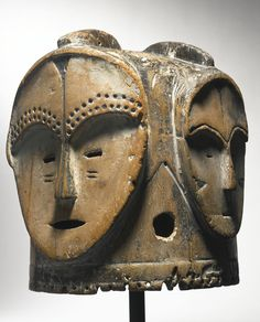 Fang Four-Faced Helmet Mask (ngontang), Gabon | lot | Sotheby's