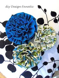 fabric flowers (hand sewing)