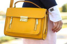 structured mustard bag