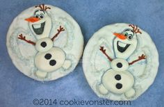 Disney Frozen Olaf snow angel cookies