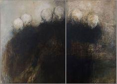 Isabelle Vialle paintings, plastic arts, visual arts, fine art. they vaguely look like teeth to me...