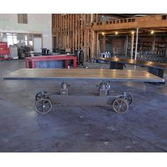 VIntage Industrial Train Crank Table/Rustic Chic Dining/Desk/Adjustable Height