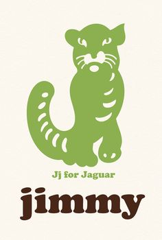 Personalized Custom Initial J Letter Name Print Baby by nutmegaroo, $20.00