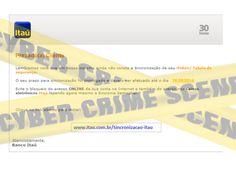 Muralha Informática: ALERTA ITAU 09945 - E-mail fraudulento não acesse...
