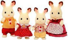 シルバニアファミリー 人形 ショコラウサギファミリー FS-16:Amazon.co.jp:おもちゃ