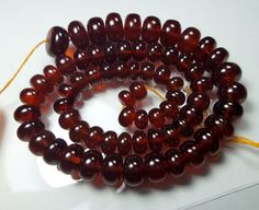 273.5 Carat Natural Hessonite Garnet 6.5 to 11.5 MM Smooth Beads 14 Inch Strand #Unbranded
