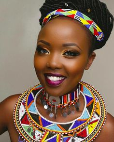 African beads jewellry | Colorful Designs | African Fashion | Black Women Fashion| Black Girls make up