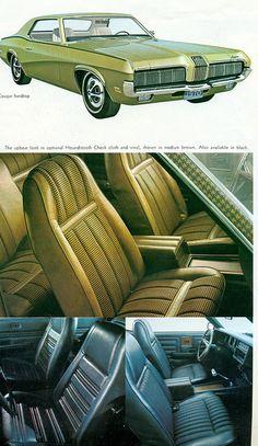 1970 Mercury Cougar Hardtop Interior one of my favorite cars!