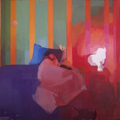 """Time Traveler, (Matthew Napping)oil on linen, 72""""x72"""",  has been shortlisted for the BP Portrait Award 2018  The BP Portrait Award 2018 exhibition will run at the National Portrait Gallery in London from 14 June to 23 September 2018. The exhibition will then go on tour to Wolverhampton Art Gallery (13 October - 2 December 2018), Scottish National Portrait Gallery, Edinburgh (December 2018 - March 2019) and Cartwright Hall, Bradford (March - June 2019)."""