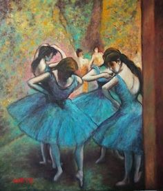 DANSERS IN BLEU AFTER E. DEGAS - MONTY