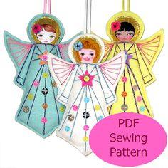 PDF Sewing Pattern Angel Sewing Pattern Felt Angel by zouzoudesign