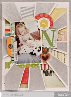 Little Mommy by Jen Jockisch at Studio Calico this rocks! I love the misted starburst