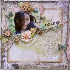 Scrapbook page made by Gabrielle Pollacco with the Scrap That! May Anniversary Kit & The Color Room Special Edition Palette & Sketch