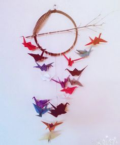 Dream catcher.... Paper cranes